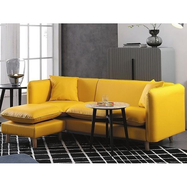 沙發 L型皮沙發 CV-333-1 麥勒斯黃色L型皮沙發 (可左右擺放) 【大眾家居舘】