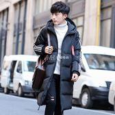 棉衣男青少年加厚學生中長款羽絨棉服韓版學生連帽保暖外套潮  瑪奇哈朵