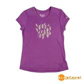 wildland荒野 女 RE印花棉感功能上衣『葡萄紫』0A51691 台灣製造 排汗透氣圓領T恤 T-shirt 運動服