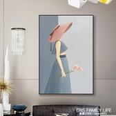 現代玄關客廳裝飾畫抽象臥室床頭掛畫簡約輕奢房間藝術人物壁畫 ATF 艾瑞斯