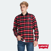 Levis 男款 法藍絨格紋襯衫 / CNY限量系列 / Thermolite保暖科技 / 刺繡Logo