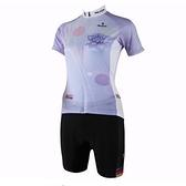 自行車衣套裝-含短袖腳踏車服+單車褲-復古花色修身女運動服69u70[時尚巴黎]