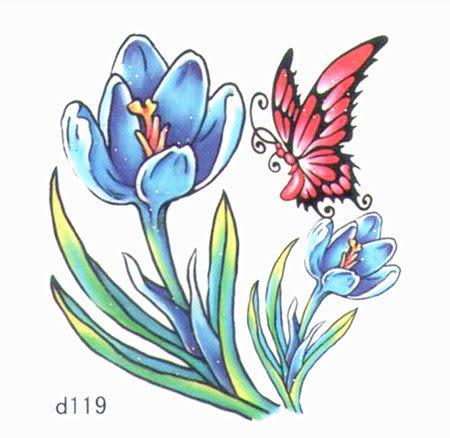 薇嘉雅 玫瑰花 超炫圖案紋身貼紙 d119
