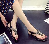 【黑色星期五】平底涼鞋女夏季夾腳平跟女鞋