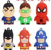 U盤迷妳超級英雄4g/8g/16g/32gb優盤動漫卡通美國隊長蜘蛛俠U盤蝙蝠俠USB