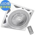 【勳風】14吋 DC變頻 LED燈罩頂上循環扇 吸頂扇 HF-B7996DC / HFB7996DC 輕鬆安裝於各種輕鋼架
