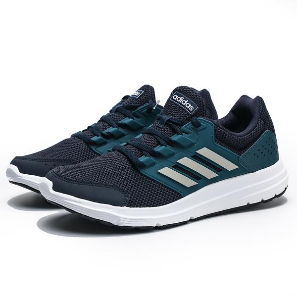 ADIDAS GALAXY 4 藍綠 網布 透氣 慢跑鞋 男 (布魯克林) EG8377