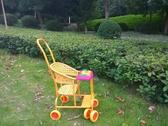 藤編嬰兒春季仿藤椅手推車寶寶可坐輕便兒童六輪萬向輪音樂竹藤車