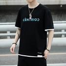 男士短袖T恤夏季潮牌潮流寬鬆上衣服黑色半袖純棉冰感ins打底衫 設計師