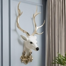 北歐輕奢風美式客廳藝術背景墻面裝飾3d立體招財鹿頭墻壁掛件墻飾 酷男精品館