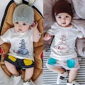 嬰兒套裝寶寶夏季短袖上衣 短褲新生兒男女嬰兒外出服夏裝0-1歲潮
