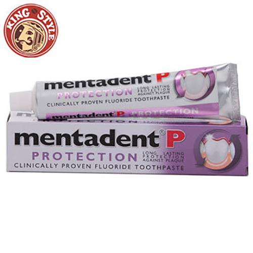 【Mentadent】美達淨牙膏 除齒斑含氟牙膏  PROTECTION   紫色 100ml