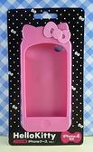 【震撼精品百貨】Hello Kitty 凱蒂貓~HELLO KITTY iPhone4矽膠手機殼-粉蝴蝶結