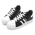 PLAYBOY條紋拼接貝殼小白鞋-黑(Y6228)