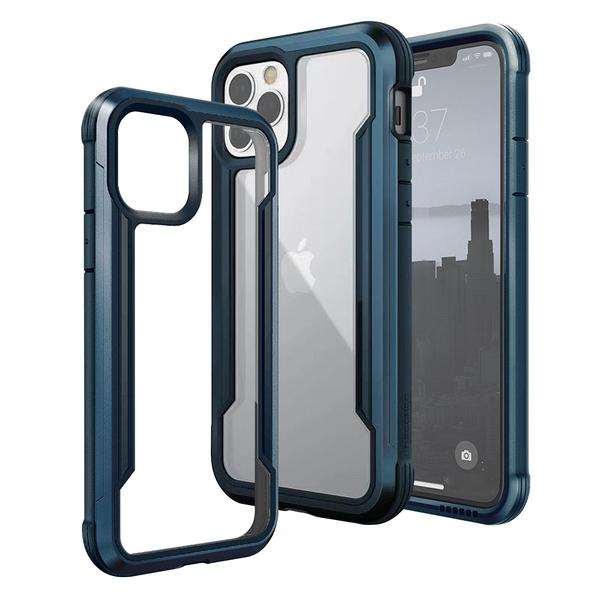 X-Doria DEFENSE SHIELD iPhone 12/12 Pro 6.1吋/12 Pro Max 6.7吋 刀鋒極盾耐撞擊防摔手機殼-藍 請選型號