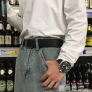 寬皮帶男潮年輕人簡約百搭韓版學生牛仔褲腰帶時尚個性潮流韓國黑『快速出貨』