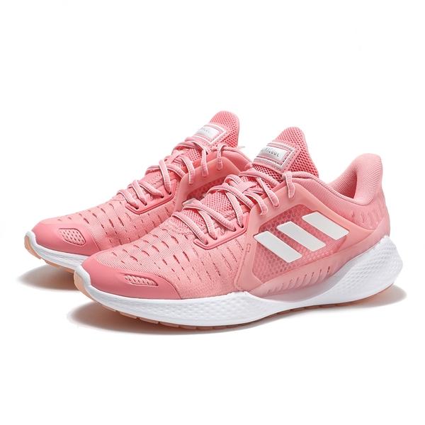 ADIDAS 慢跑鞋 CLIMACOOL VENT SUMMER 粉白 輕量 透氣 運動 女 (布魯克林) EG1119
