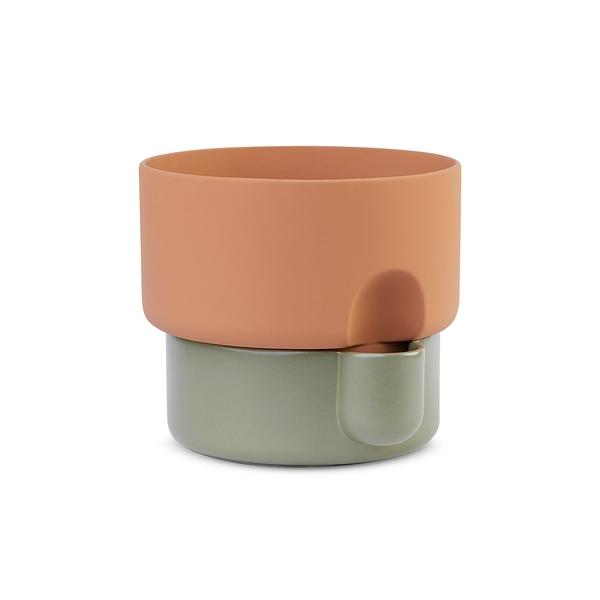 挪威 Northern Oasis Double Flower Pot in Small 15cm 綠洲系列 雙層 花盆 - 小尺寸(綠色款)
