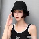 假髮帽 帽子假發女短發網紅波波頭帽子帶假發一體女夏天時尚bobo全頭套式 韓菲兒