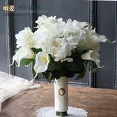 WELOVE高檔白色玫瑰馬蹄蓮繡球婚紗拍照寫真結婚婚禮新娘手捧花束 春生雜貨