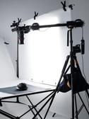 攝影道具 相機單反三腳架垂直俯拍加長延長桿拍攝道具攝影燈架四頭延長橫臂 星河光年DF