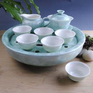 大茶盤綠結晶釉
