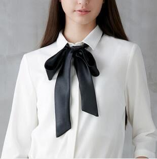 時尚小領帶學院風絲帶細窄百搭FA05547『時尚玩家』