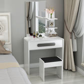 臥室梳妝台鏡小戶型迷你收納組裝60cm多功能簡約現代梳化妝桌烤漆xw 全館免運