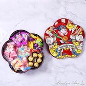創意新年糖果盒卡通過年零食干果盤家用堅果盒旋轉果盒分格瓜子盤 瑪麗蓮安
