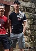BIG TRAIN  彈性灰色休閒短褲-男-B50189