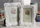 618好康鉅惠白色田園相框組合玫瑰相架創意照片框擺臺