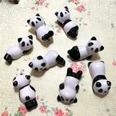 國寶小熊貓陶瓷工藝品小擺件熊貓筷子架托餐廳動物筷枕家用筷子托