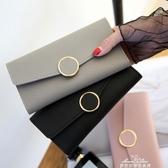 KISS ME歐美長款2折簡約大容量小圓環錢包女 簡約潮流女包 新年禮物