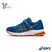 ASICS童鞋 男童 GT-1000 10 PS 經典款跑步鞋 魔鬼氈慢跑鞋 亞瑟膠 運動鞋 亞瑟士 C9121#藍色◆奧森