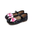 Hello Kitty 凱蒂貓 娃娃鞋 黑色 亮粉 蝴蝶結 中童 童鞋 719829 no805