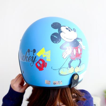 正版迪士尼復古全罩安全帽 米奇米妮 機車安全帽 四分之三 騎士帽 台灣製 霧面 CA-309