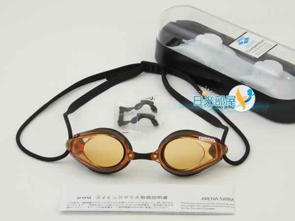 *日光部屋* arena (公司貨)/AGL-1700E-ORG 競泳型/小鏡面泳鏡