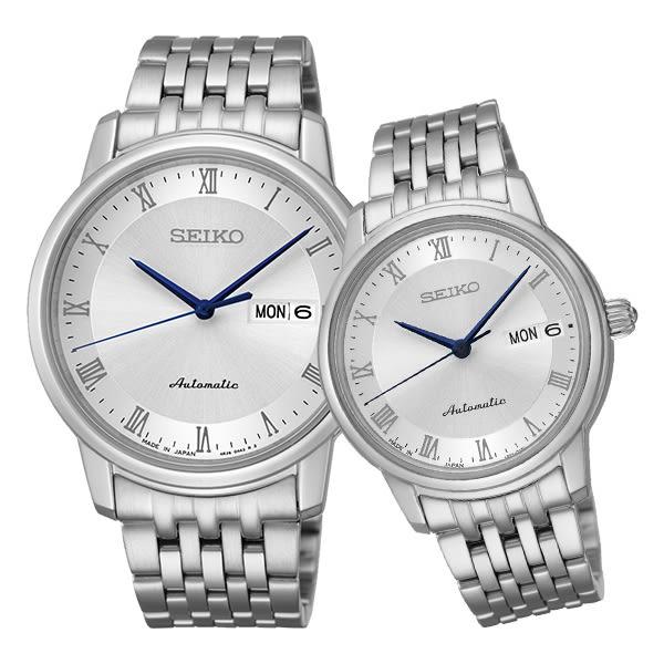 SEIKO 精工 Presage 機械錶 情人對錶 SRP691J1 SRP887J1 銀白/40mm+33mm