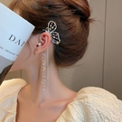 耳環 耳掛式耳環女2021年新款潮長款夏季超仙氣耳夾無耳洞夸張蝴蝶耳飾