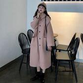 2018流行呢子大衣秋冬新款韓版森系小個子中長款加厚毛呢外套女潮 初見居家