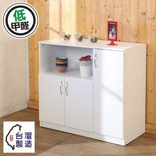 低甲醛防潑水三門廚房櫃 電器櫃 電器架 收納櫃 櫥櫃 收納櫃 櫃子 碗盤櫥櫃 B-CH-DR015 澄境