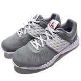 Reebok 慢跑鞋 ZPrint Run Neo 灰 紫 白底 輕量 女鞋 運動鞋【PUMP306】 AR3034
