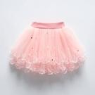 舞蹈半身裙 女童半身裙兒童舞蹈裙春秋冬裝小女孩半截裙寶寶蓬蓬短裙公主紗裙 歐歐