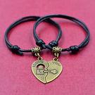 民族風學生手飾鑰匙和鎖情侶手繩....
