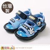 男童鞋 台灣製迪士尼米奇正版嗶嗶涼鞋 魔法Baby