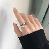 戒指女蝴蝶指環簡約冷淡風食指指環【聚寶屋】