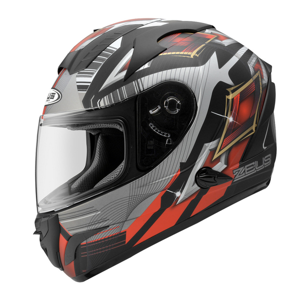 ZEUS 瑞獅安全帽,ZS-806F,II58/消光黑紅