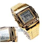 CASIO卡西歐DB-360G-9A電子錶 方形 復刻金 43mm 防水手錶 DB-360G-9 DB-360G-9ADF