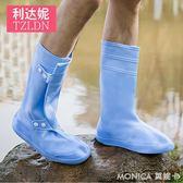 雨鞋男防水高筒鞋套雨天外穿防滑加厚情侶橡膠雨靴耐磨雨鞋套男夏 莫妮卡小屋