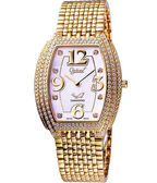 Ogival 愛其華 晶華系列真鑽珠寶腕錶-金 3872DMK